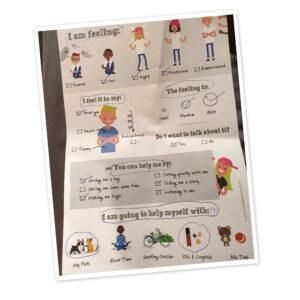 kids feelings worksheet physical product