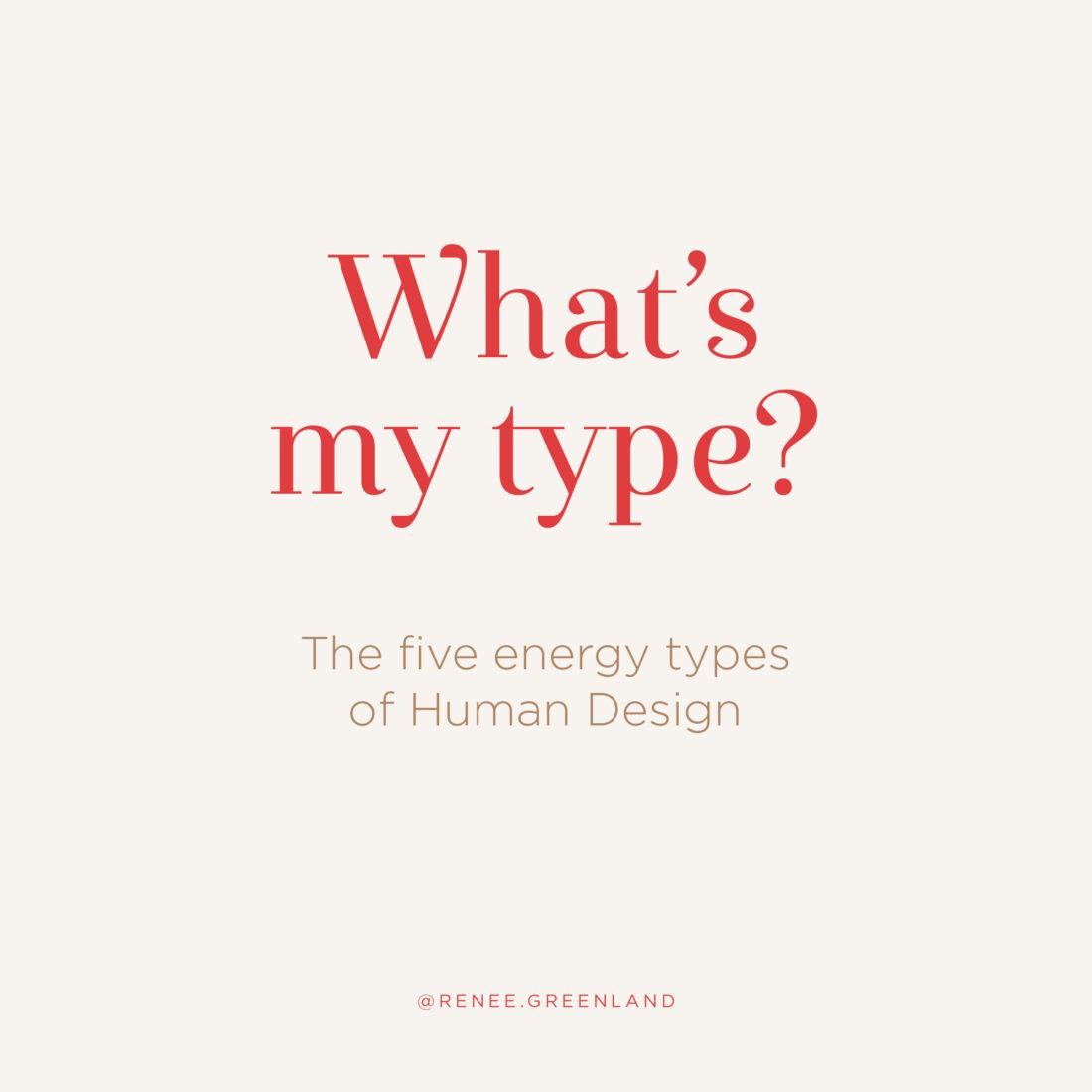 what's my human design energy type
