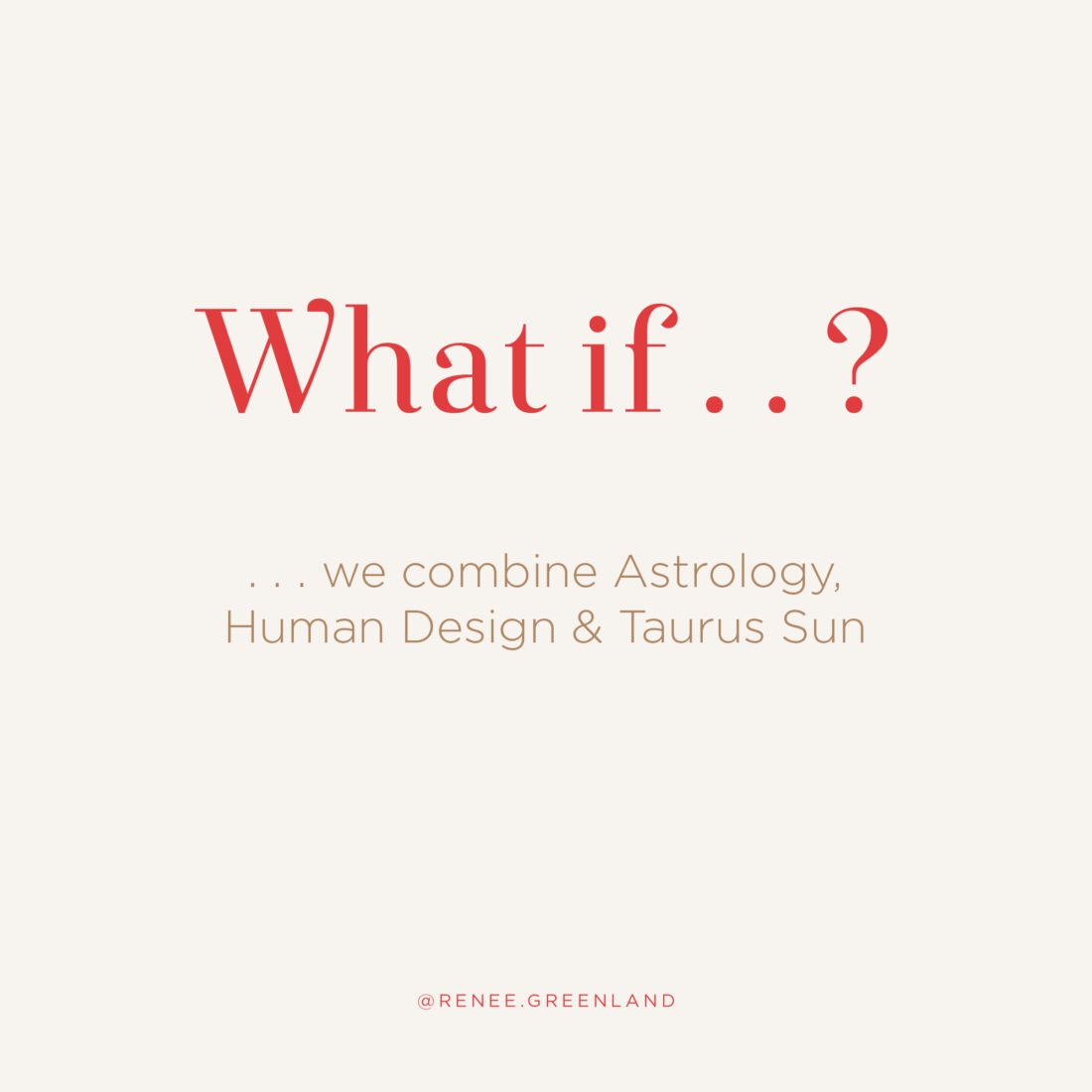 what if we combine astrology and human design