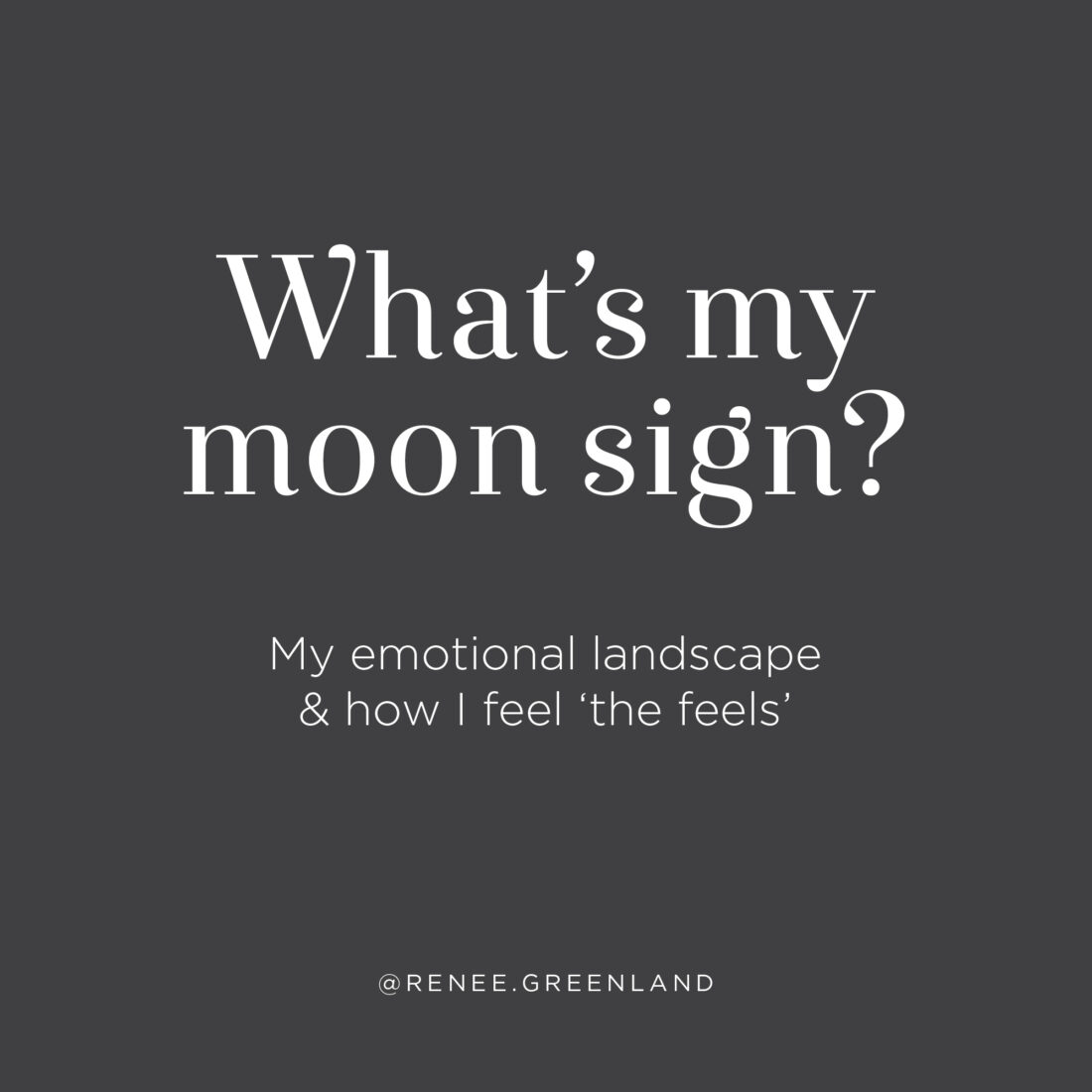 what's my moon sign