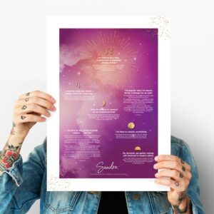 soul purpose poster pink soul map