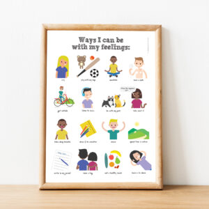 ways I can be with my feelings framed poster