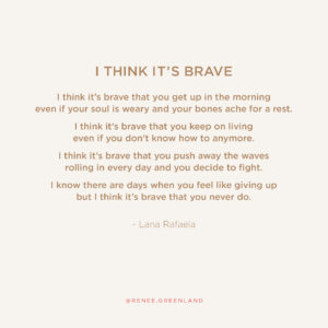 I think it's brave