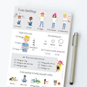 kids feelings worksheet digital download